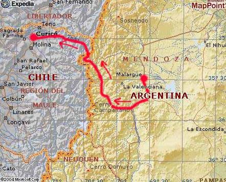 MTB Tours Travesias de mountain bike, cicloturismo en Argentina, Uruguay y Chile - Patagonia y Cruce de los Andes en bicicleta_1249348566427